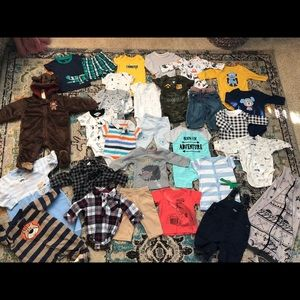 Lot of Baby Boy Clothes Size 0-3 Months & 3 Months